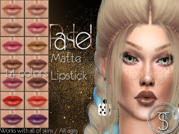 Sims 4 Pastel Matte Lipstick by turksimmer at TSR