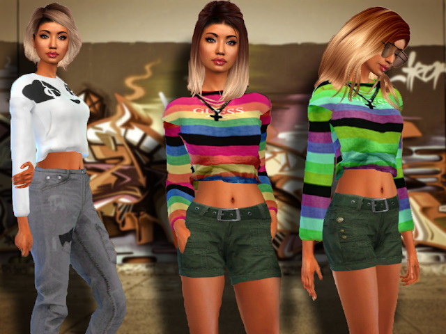 Sims 4 Puffy Sweater Recolor at Teenageeaglerunner