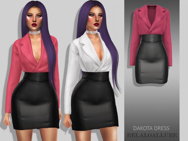 Sims 4 Belaloallure Dakota dress by belal1997 at TSR