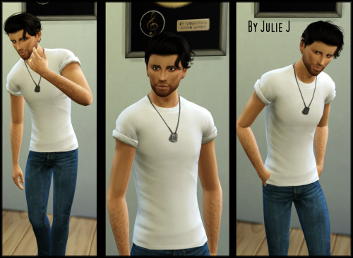 Sims 4 GP07 Military Low Tee Recolours at Julietoon – Julie J
