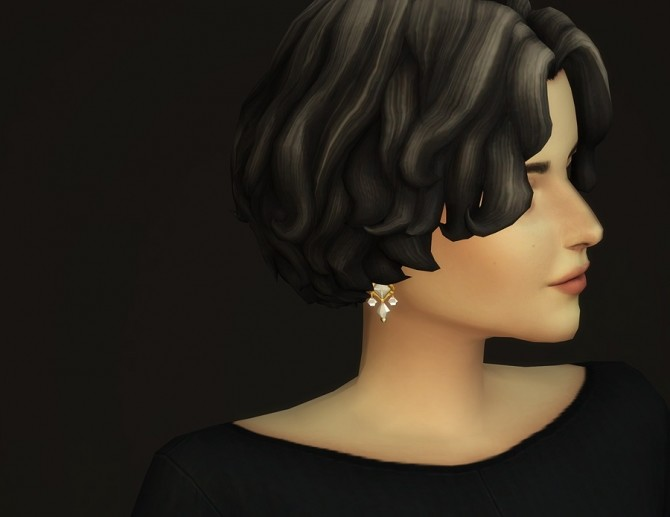 Sims 4 GP07 Curly Mid Hair Edit V1 at Rusty Nail