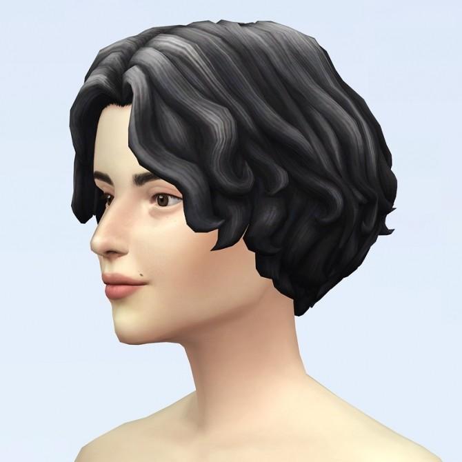 GP07 Curly Mid Hair Edit V1 at Rusty Nail image 2301 670x670 Sims 4 Updates