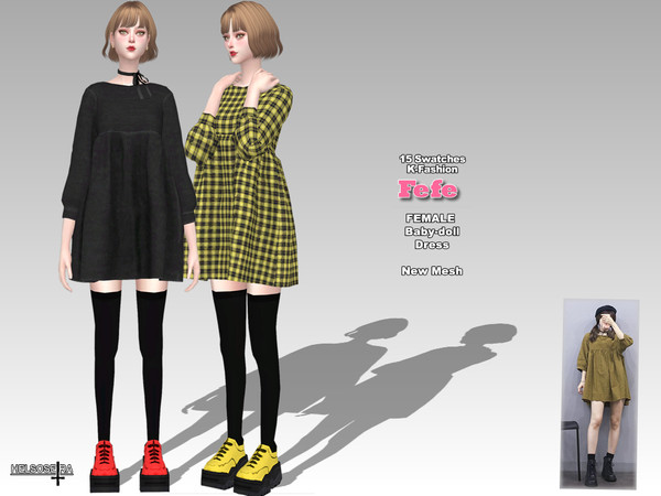 Sims 4 FEFE Baby doll Dress by Helsoseira at TSR