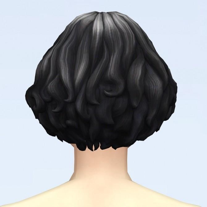 GP07 Curly Mid Hair Edit V1 at Rusty Nail image 2321 670x670 Sims 4 Updates