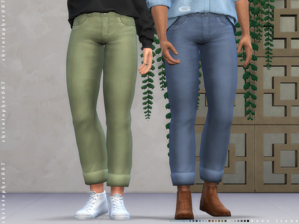Sims 4 Dosa Jeans by Christopher067 at TSR