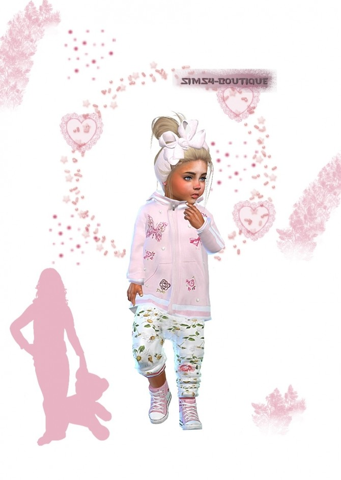 Designer Set: Jacket, Pants, Sneakers & Hairband at Sims4 Boutique image 2432 670x942 Sims 4 Updates