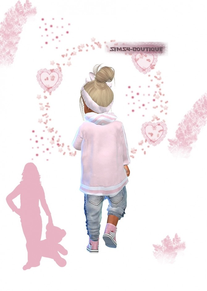 Designer Set: Jacket, Pants, Sneakers & Hairband at Sims4 Boutique image 2452 670x942 Sims 4 Updates
