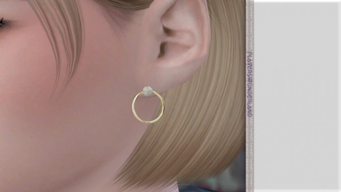 Sims 4 Hoop Studs at PW's Creations