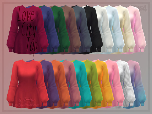 Love City Top by Trillyke at TSR image 2515 Sims 4 Updates