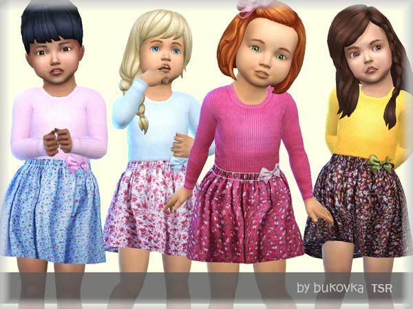 Sims 4 Dress Flower by bukovka at TSR
