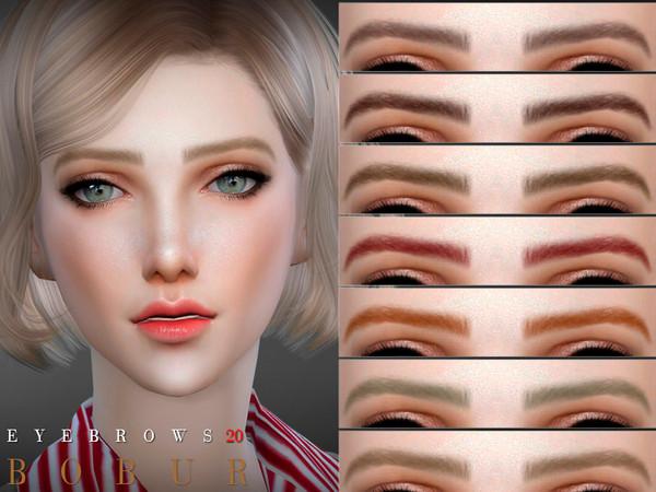 Sims 4 Eyebrows 20 by Bobur3 at TSR