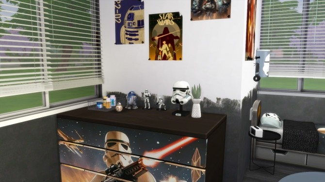 STAR WARS BEDROOM at MODELSIMS4 image 2623 670x377 Sims 4 Updates