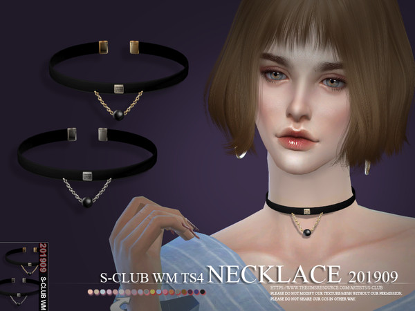 Sims 4 Necklace 201909 by S Club WM at TSR