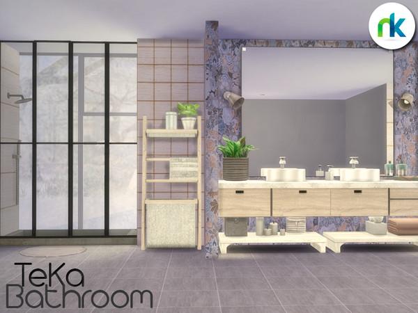 Sims 4 TeKa Bathroom by nikadema at TSR