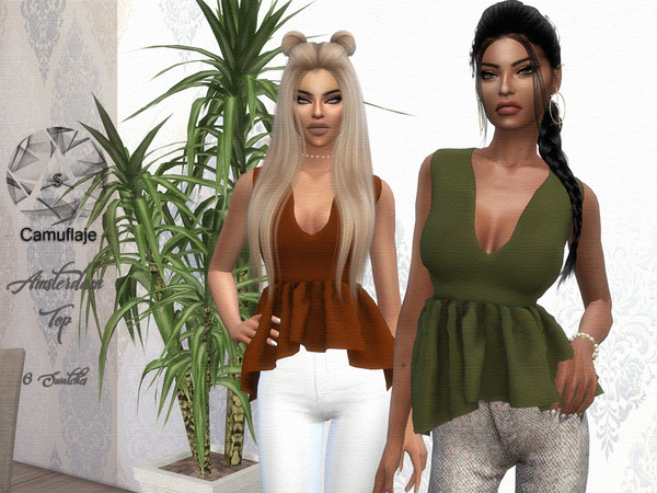Amsterdam Top by Camuflaje at TSR image 2716 Sims 4 Updates