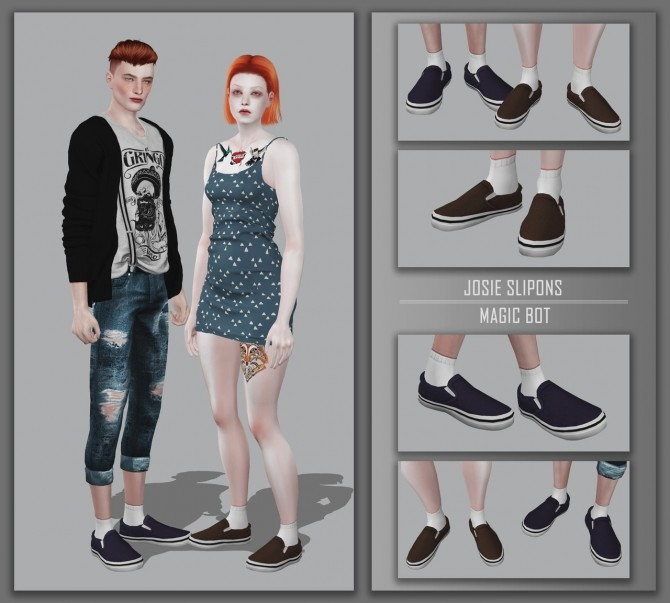 Sims 4 JOSIE SLIPONS at Magic bot