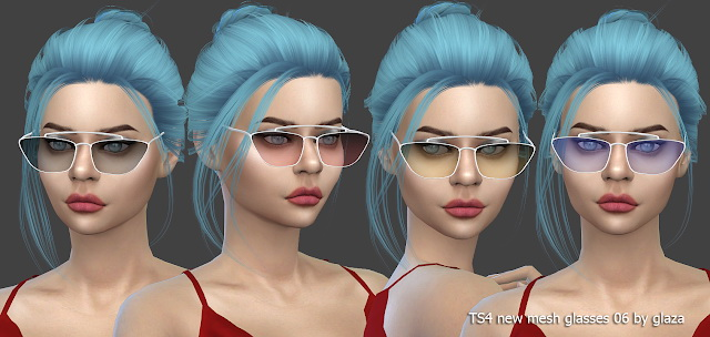Glasses 06 at All by Glaza image 2862 Sims 4 Updates