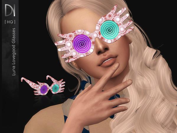 Luna Lovegood Glasses by DarkNighTt at TSR image 2916 Sims 4 Updates