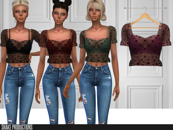 Sims 4 257 Blouse by ShakeProductions at TSR