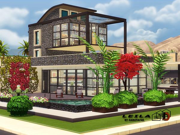 Sims 4 Leila house by Danuta720 at TSR
