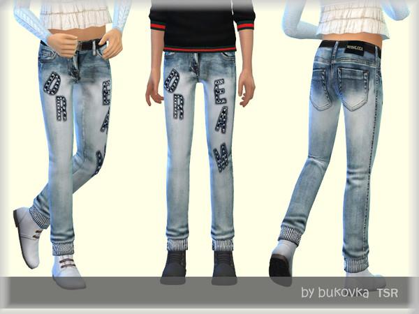 Sims 4 Denim Dream pants by bukovka at TSR