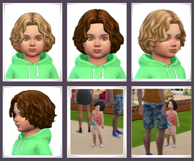 Sims 4 Tiny Curls Mid Part at Birksches Sims Blog