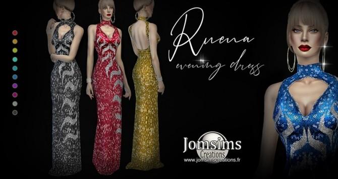 Sims 4 Ruena evening dress at Jomsims Creations
