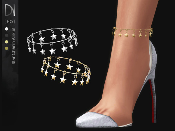 Sims 4 Star Charm Anklet Right by DarkNighTt at TSR