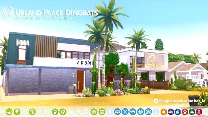 Sims 4 Upland Place Dingbats   L.A. Inspired Home for Del Sol Valley at Simsational Designs