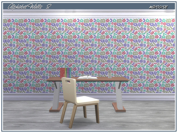 Alphabet Walls by marcorse at TSR image 3104 Sims 4 Updates