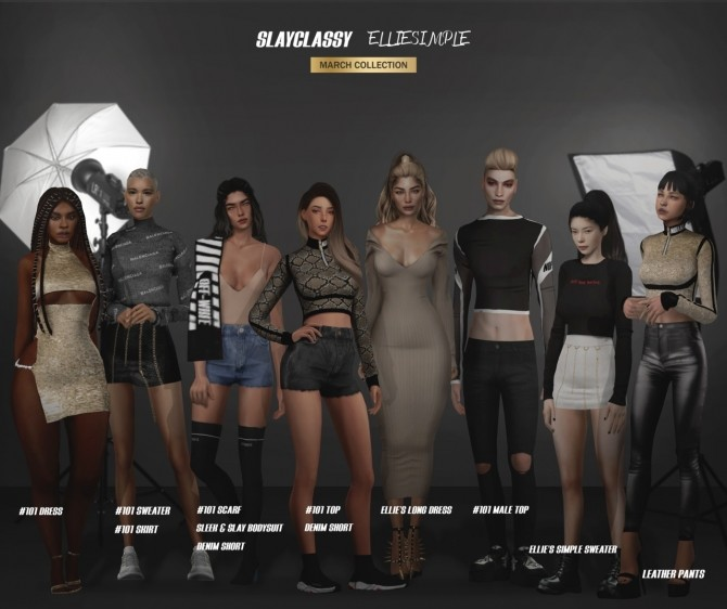 Sims 4 SLAYCLASSY x ELLIESIMPLE collection at Slay Classy
