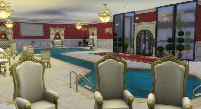 Sims 4 The Blue Swan VIP Pool by Wild Lucy at Mod The Sims