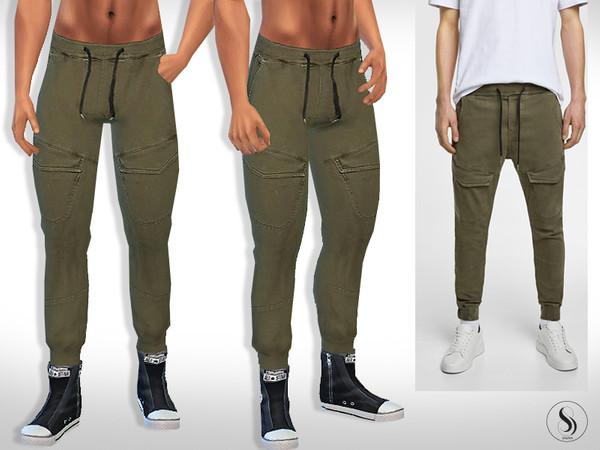 Sims 4 Soft Front Pocket Men Trousers by Saliwa at TSR