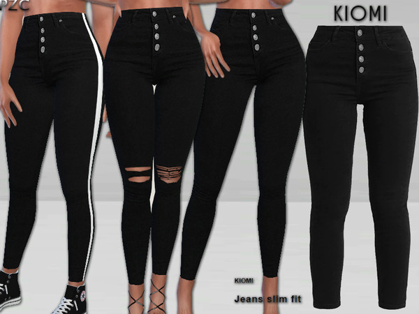 Sims 4 Kiomi Jeans Slim Fit by Pinkzombiecupcakes at TSR