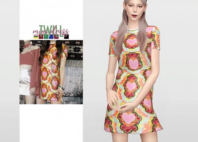 Sims 4 Twill Mini Dress at Waekey