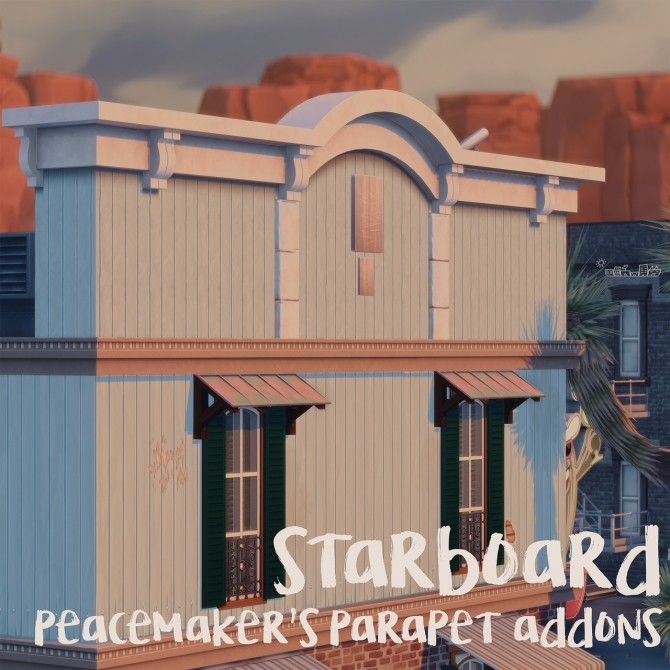 Sims 4 STARBOARD PEACEMAKER'S PARAPET ADDONS recolors at Picture Amoebae