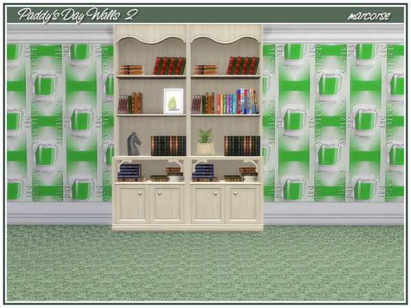 Paddys Day Walls by marcorse at TSR image 327 Sims 4 Updates