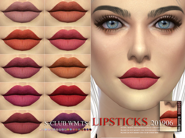 Lipstick 201906 by S Club WM at TSR image 3319 Sims 4 Updates