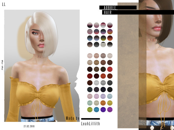 Aubree Hair by Leah Lillith at TSR image 34 Sims 4 Updates