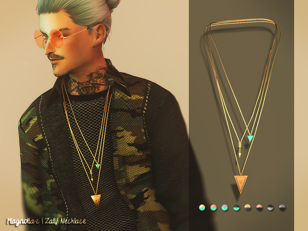 Sims 4 Zalif Necklace by Magnolia C at TSR