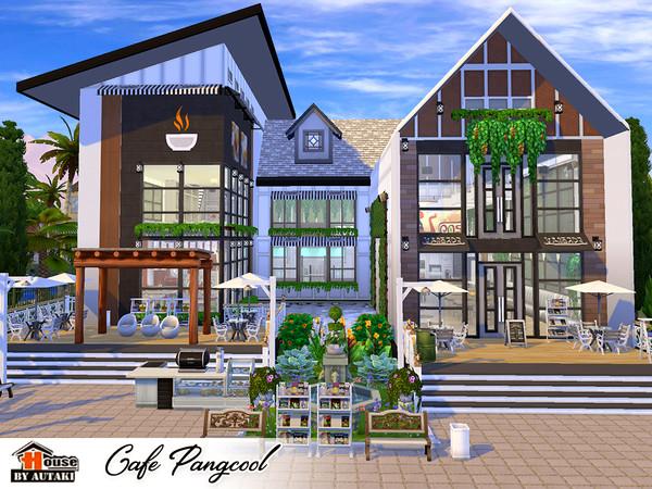 Sims 4 Cafe Pangcool by autaki at TSR