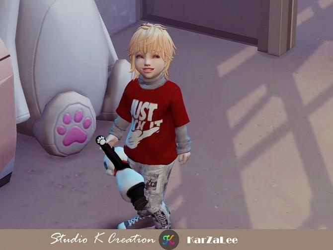 Sims 4 Giruto 72 Vintage layered tee for toddler at Studio K Creation