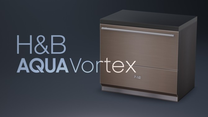 Sims 4 H&B AquaVortex Dishwasher by littledica at Mod The Sims