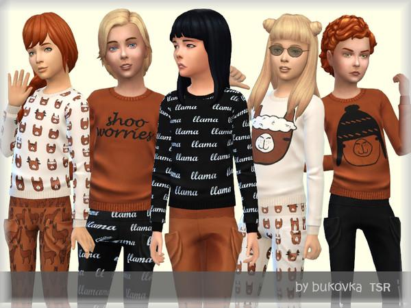 Sims 4 T shirt Lama by bukovka at TSR