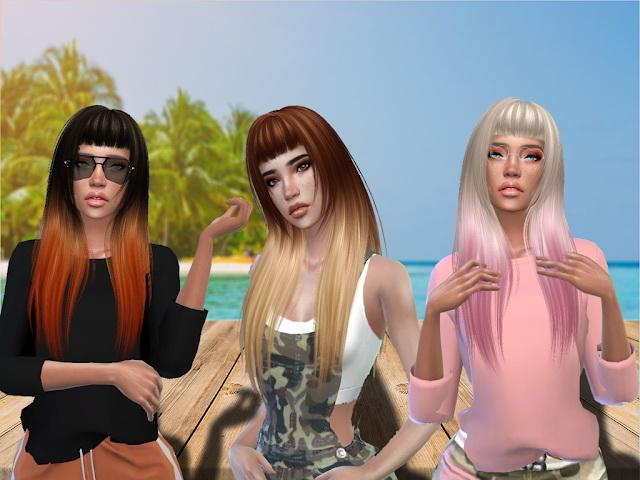 Sims 4 Rebel Hair Recolor at Teenageeaglerunner
