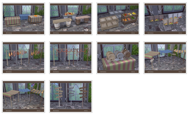 Marketplace Set By Soloriya At Tsr 187 Sims 4 Updates