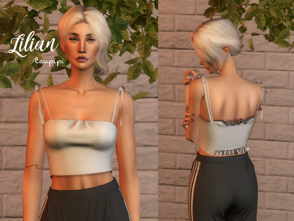 Sims 4 Lilian top by laupipi at TSR