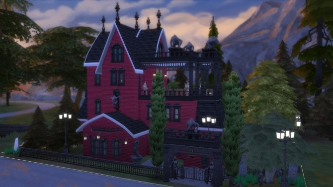 Sims 4 Forgotten Hollow renew #5 | The red liquid bar by iSandor at Mod The Sims