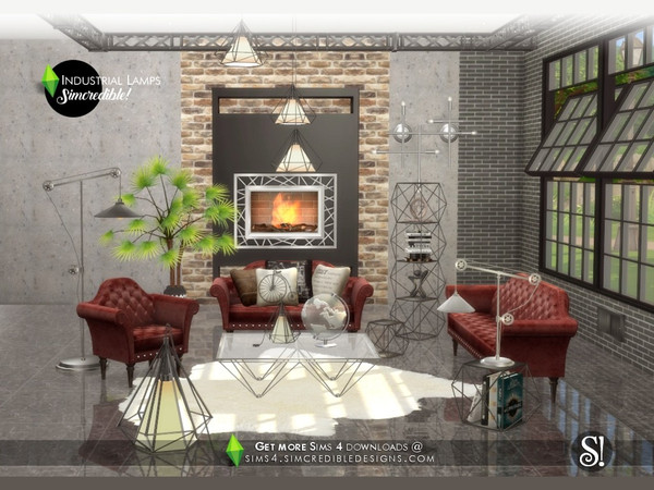 Industrial Lamps by SIMcredible at TSR image 3719 Sims 4 Updates