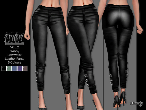 Sims 4 EMES V2 Leather Pants by Helsoseira at TSR